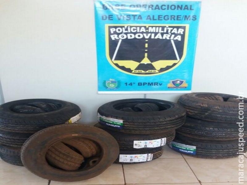 Maracaju: PRE BOP Vista Alegre apreende 40 pneus contrabandeados