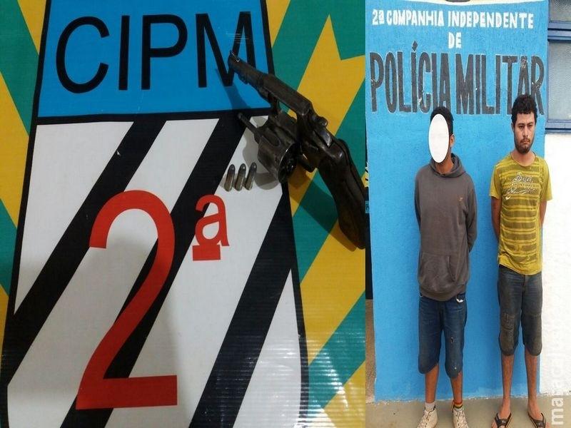 Polícia Militar de Maracaju apreende adolescente por porte ilegal de arma de fogo