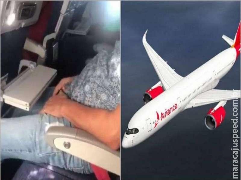 Jovem filma homem se masturbando em voo e denuncia caso nas redes sociais