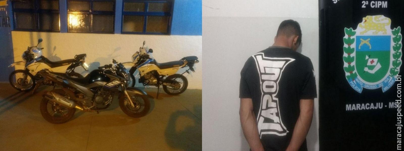 Maracaju: Adolescente conduzindo motocicleta de grande cilindrada empreende fuga de viaturas motos da Polícia Militar