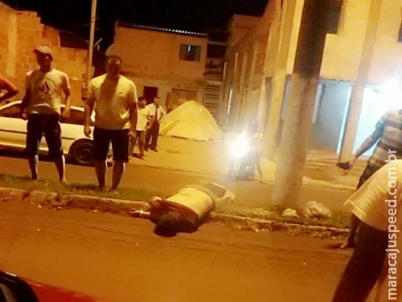 Maracaju: Bombeiros atendem acidente em que motociclista fica em estado grave
