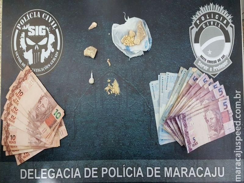 """Polícia Civil de Maracaju fecha mais uma """"boca de fumo"""" que funcionava dentro de Bar na """"Biquinha"""""""