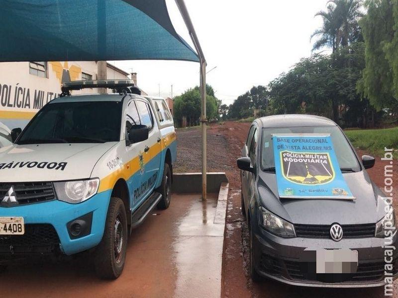 A Base Operacional de vista Alegre recupera veículo furtado em MG que seria levado para Ponta Porã