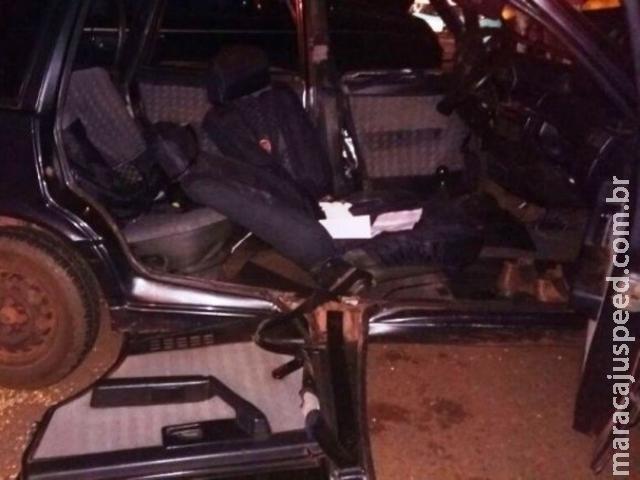 Colisão entre veículos deixa cinco pessoas feridas na MS-134