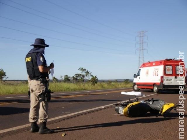 Acidente na BR-262 entre moto e carreta matou homem de 39 anos
