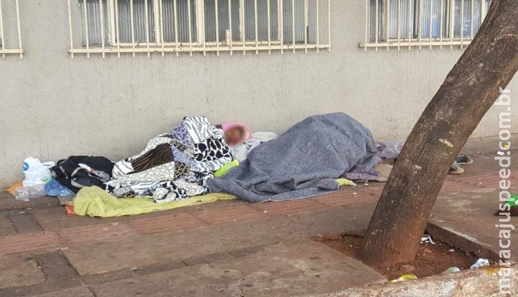 Madrugada fria dobra a procura de moradores de rua por abrigo em Campo Grande