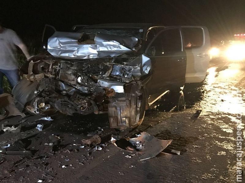 Maracaju: Bombeiros atendem grave acidente na rodovia MS-157, que deixa maracajuenses feridos