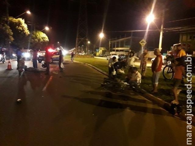 Piloto avança a preferencial e causa colisão entre motos na Guaicurus