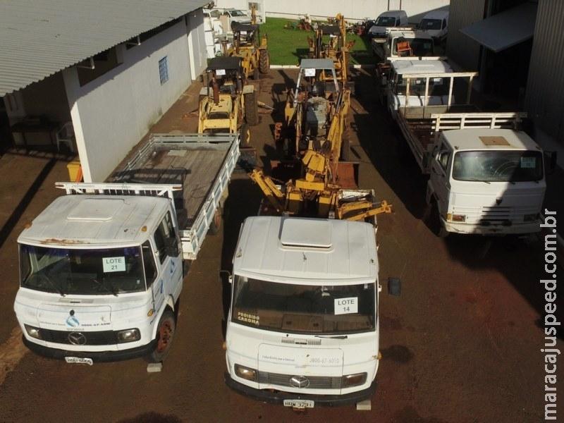 Sanesul leiloa veículos e máquinas no próximo dia 8