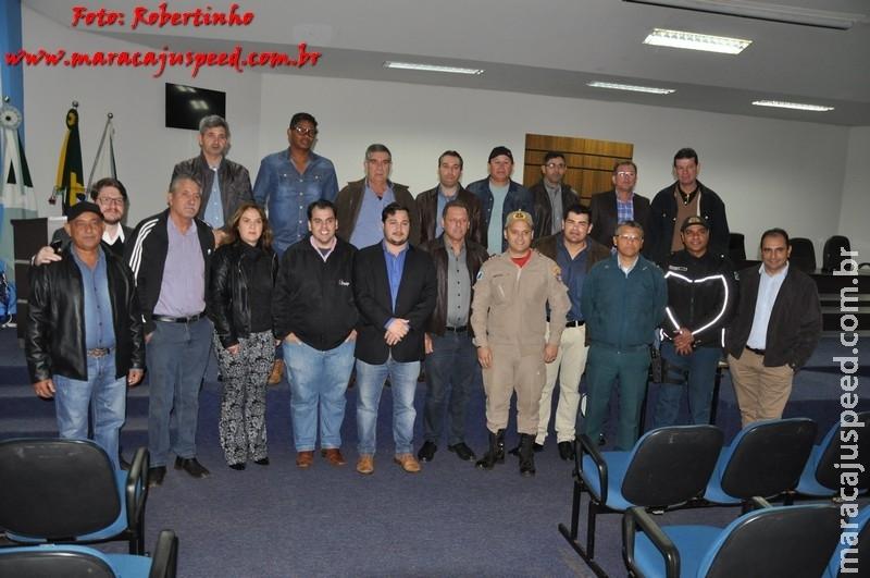 Reunião na Câmara de Vereadores sobre o trânsito define localidades de novos semáforos e rotatória em Maracaju