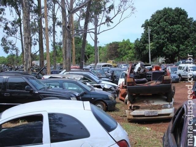 Cerca de 5 mil veículos podem ir a leilão caso donos não paguem débitos