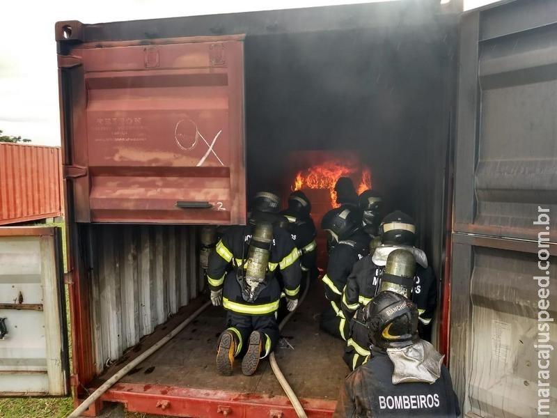 Com apoio do CONSEMA, Bombeiros Militares de Maracaju iniciam atualização em combate a incêndio em Campo Grande