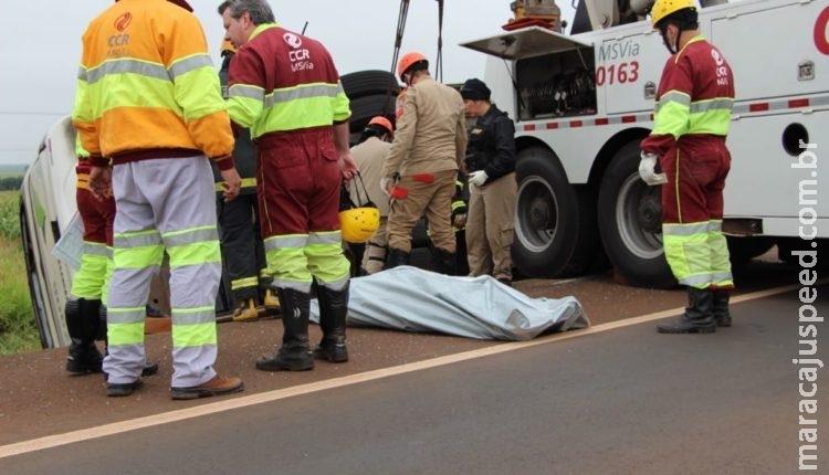 Corpo é encontrado sob ferragens de ônibus que tombou a caminho de Campo Grande