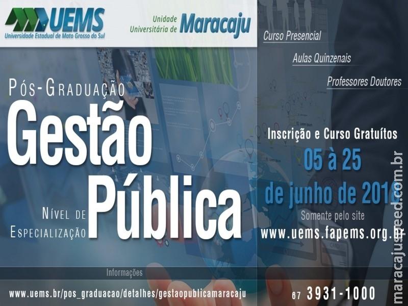 Curso de Pós-Graduação em Gestão Pública da UEMS – Unidade Universitária de Maracaju