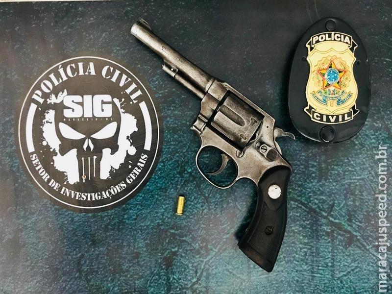 Maracaju: Polícia Civil apreende arma de fogo no Bairro Egídio Ribeiro