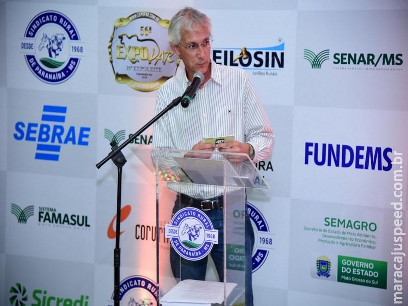 Diretor da Famasul destaca desenvolvimento do Agro durante abertura da Expopar e Expoleite 2018