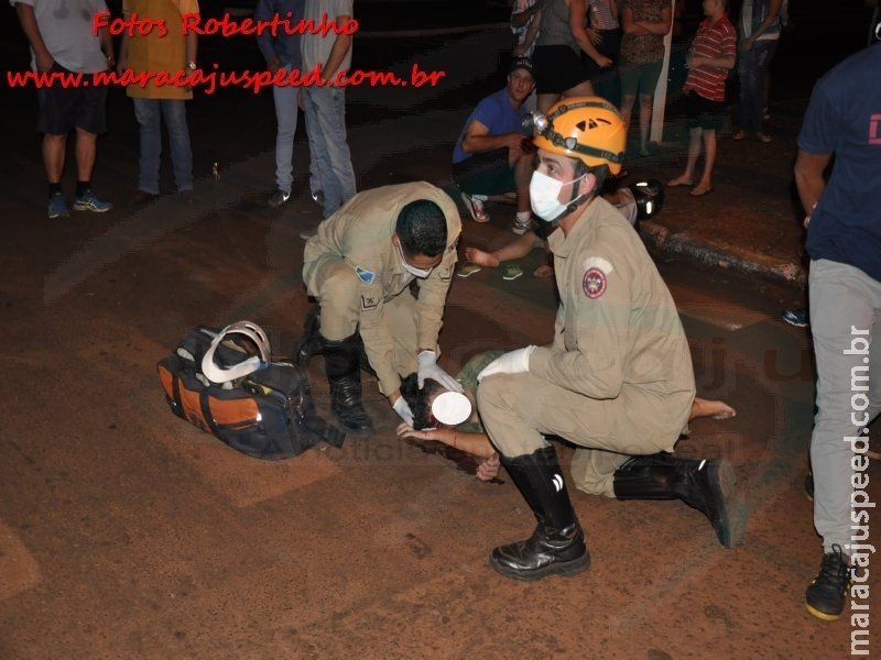 Maracaju: Grave acidente envolvendo veículo e motocicleta deixa gestante com fratura exposta na perna e filho com fratura de fêmur