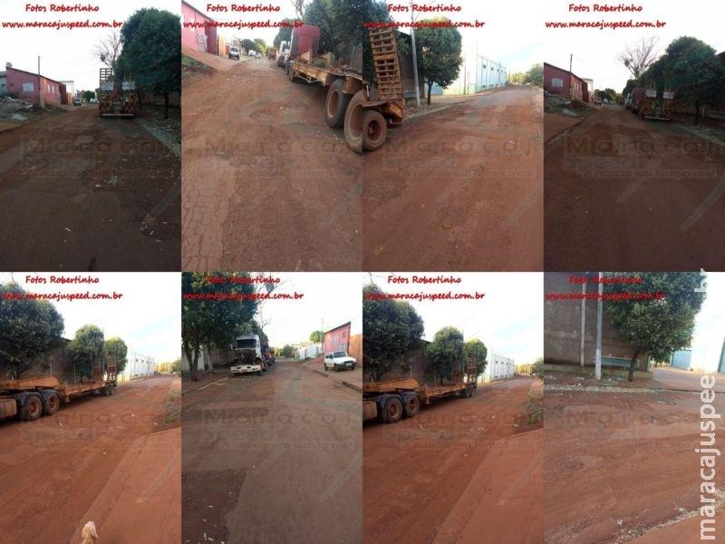 Maracaju: Moradores do Bairro Alto Maracaju reclamam de buracos em ruas e relatam o abandono do poder público