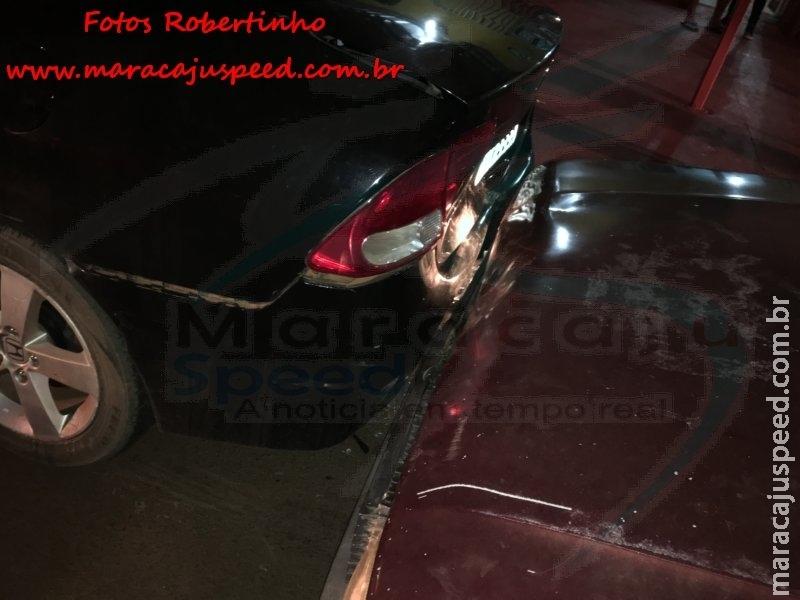Maracaju: PM é solicitada para atender ocorrência de acidente na Vila Juquita. Condutor após acidente desceu do veículo e se evadiu a pé