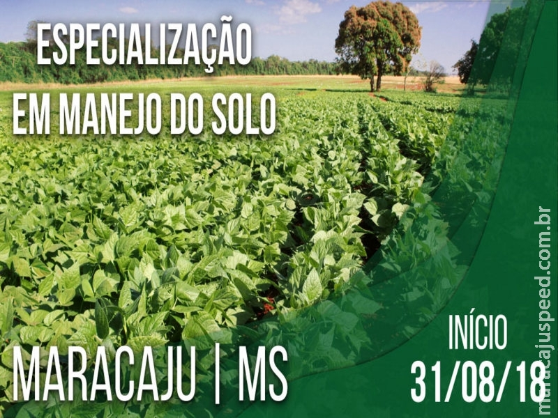Sustentabilidade e produtividade são as propostas do Curso de Especialização em Manejo do Solo em Maracaju, promovido pela ESALQ/USP