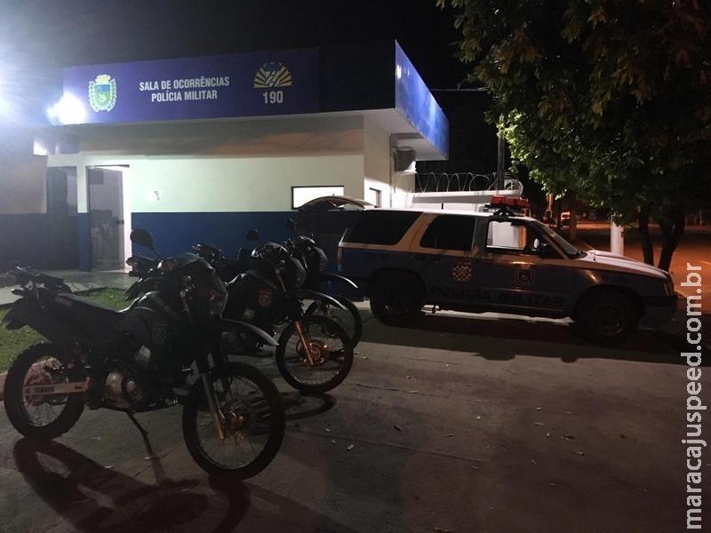 Maracaju: Condutor de motocicleta é preso em flagrante pela PM após queda durante perseguição