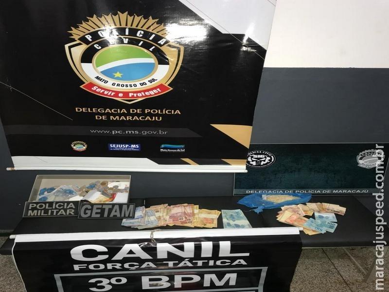Polícias Civil e Militar deflagram Operação Viribus, prendem 05 pessoas e apreendem drogas e aparelhos celulares furtados