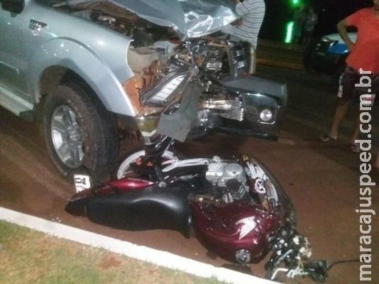 Rapaz morre atropelado na orla de Fátima do Sul