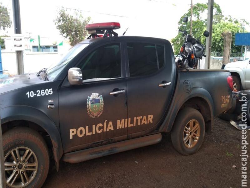 Maracaju: PM recupera motocicleta furtada por adolescente de 13 anos