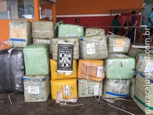Quatro homens são flagrados em MS com 32 mil óculos contrabandeados que seriam entregues em SP