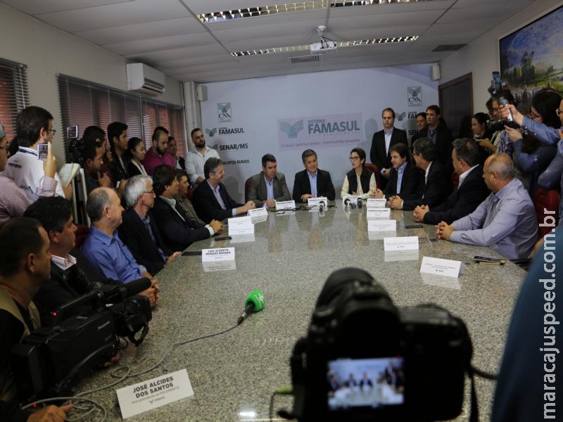 Em coletiva de imprensa na Famasul, futura Ministra da Agricultura Tereza Cristina destaca segurança jurídica no Agro