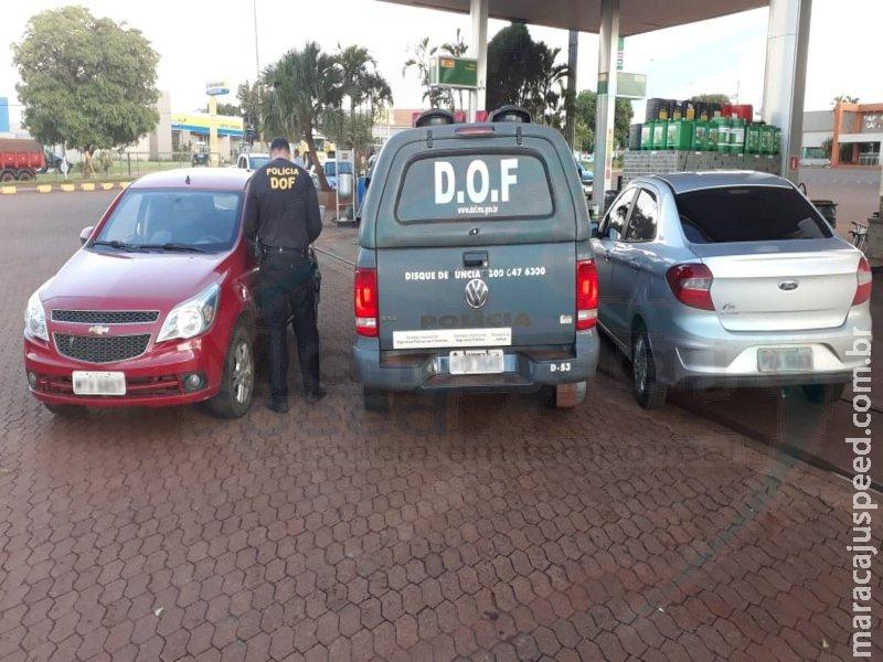 Maracaju: DOF recupera veículo furtado no Rio de Janeiro após perseguição tática na BR-267