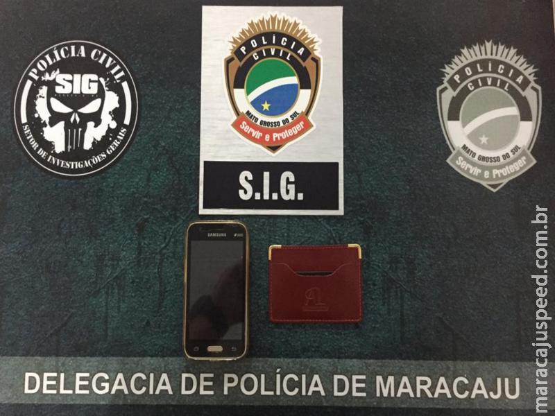 Maracaju: Polícia Civil prende autor de furto em flagrante e recupera aparelho celular e bolsa