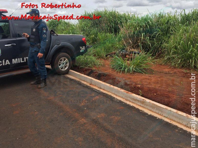 Maracaju: Polícia Militar localiza motocicleta usada em fuga, após assalto a Agência dos Correios