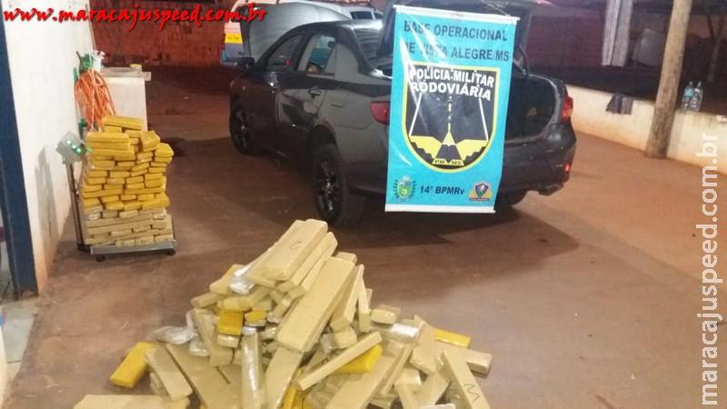 Maracaju: PRE BOPE Vista Alegre recupera veículo roubado com mais de 500 kg de Maconha no Copo Sujo