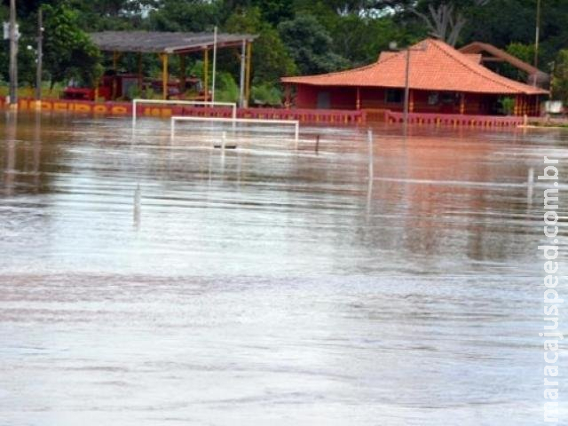 Com chuvas intensas, rio Aquidauana sobe mais dois metros em 24 horas