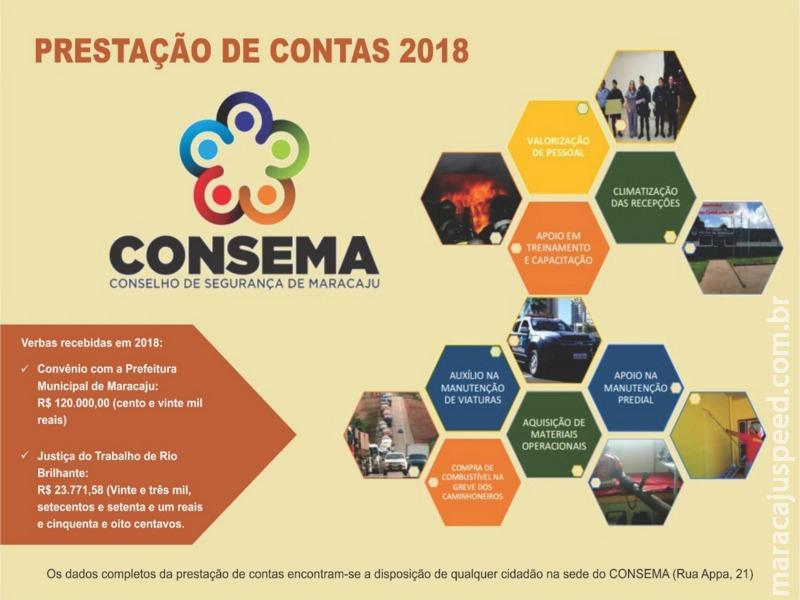Conselho de Segurança de Maracaju presta contas à Comunidade