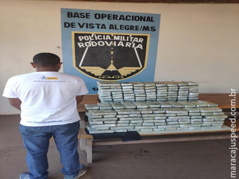Maracaju: Base PRE Vista Alegre apreende 151 kg de pasta base de cocaína em fundo falso de caminhão