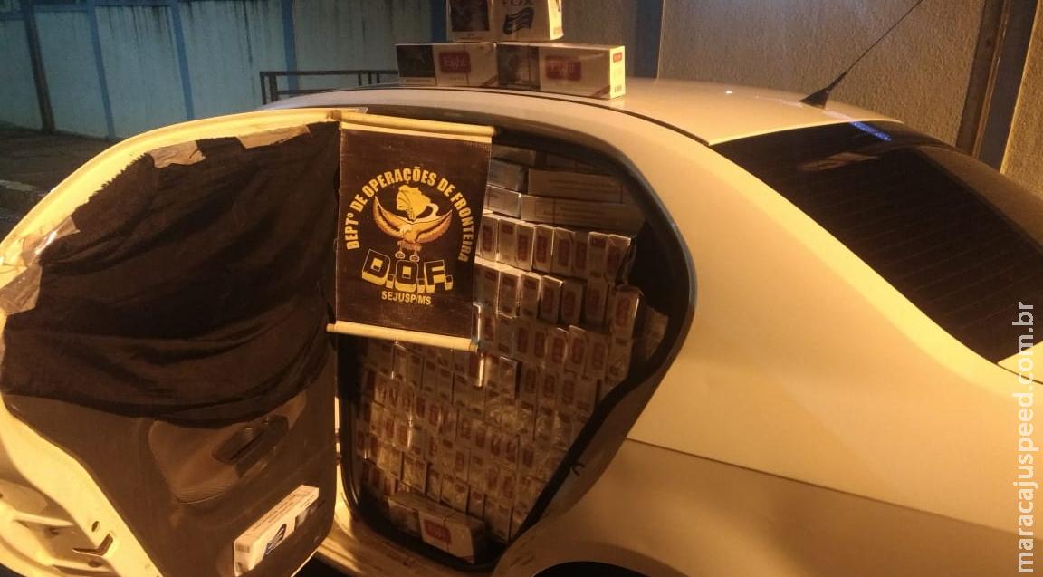 Maracaju: DOF apreende veículo carregado com 2000 mil pacotes de cigarros