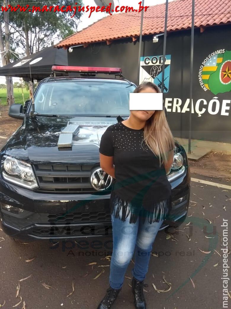 Maracaju: Jovem é presa no estado de Goiás GO com 2kg de droga análoga a cocaína