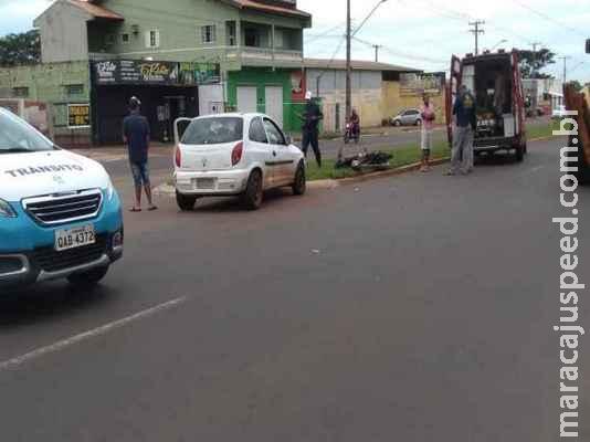 Motociclista bêbado tenta fazer conversão e bate em motorista que dirigia sem CNH
