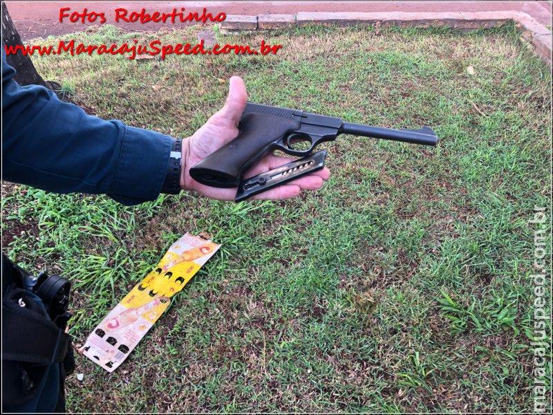 """Maracaju: """"Nego Tosco"""" é preso em flagrante por """"posse ilegal de arma de fogo de uso permitido"""""""