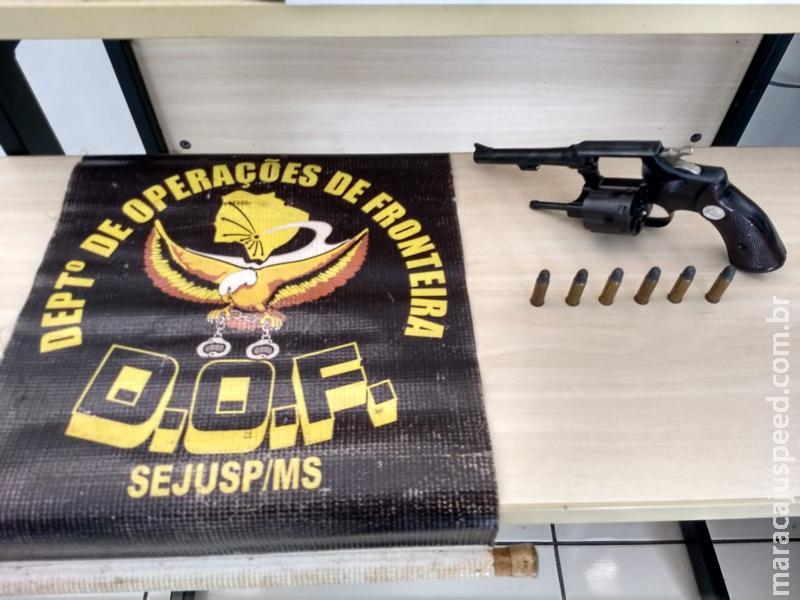 DOF apreende arma de fogo e munições em Maracaju, em abordagem próximo ao Terminal Rodoviário
