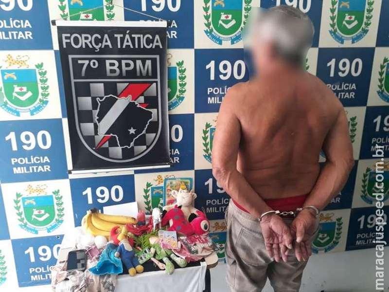 Homem de 69 anos é preso suspeito de abusar de menina