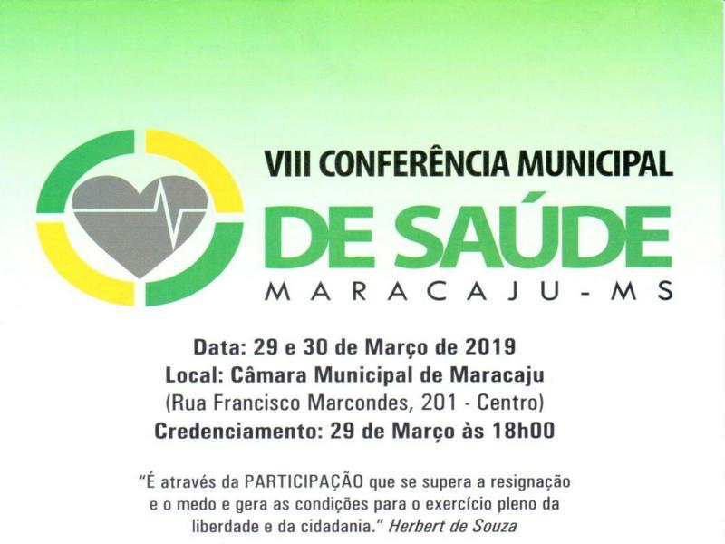 """Maracaju: Conferência Municipal de Saúde terá como tema """"Saúde como direito e consolidação e financiamento do SUS"""""""