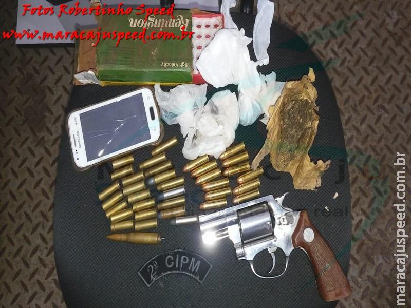Maracaju: Homem é preso por posse irregular de arma de fogo de uso permitido e tráfico de drogas na Operação Petra II