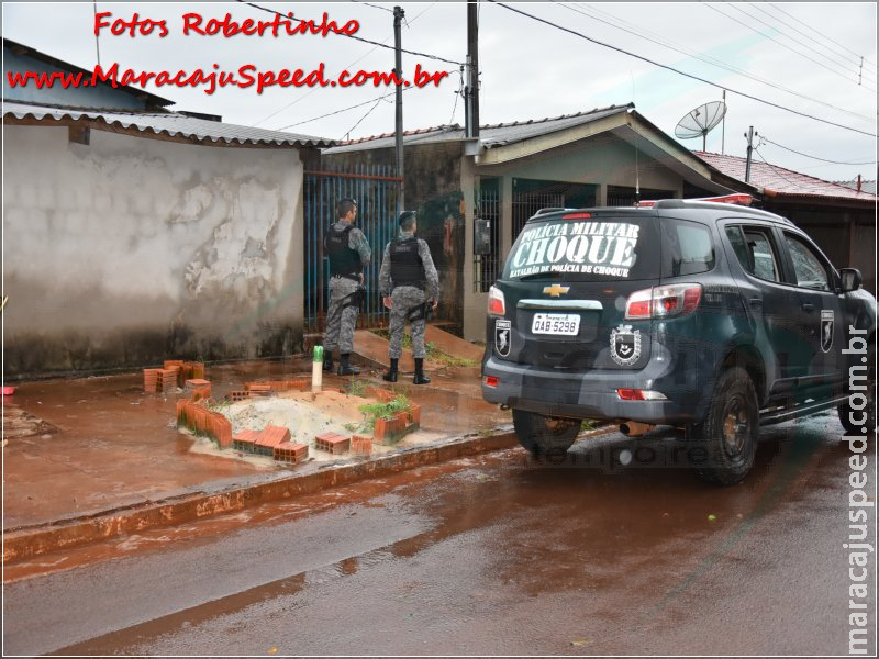 Maracaju: Militares do Choque são recebidos a tiros no Conjunto Egídio Ribeiro, homem é baleado e morre ao dar entrada no Pronto Socorro