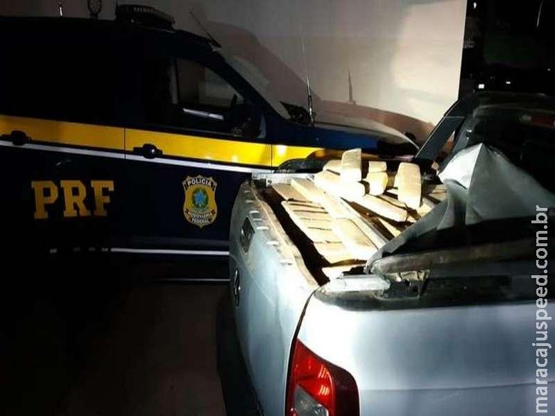 Motorista é preso tentando levar 800kg de maconha até GO