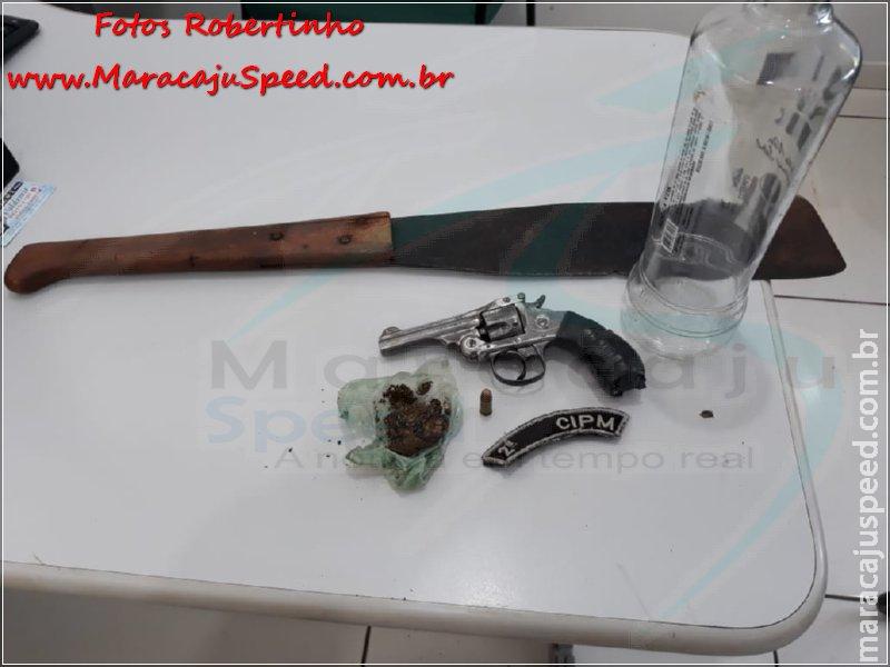Maracaju: Polícia Militar prende trio com revólver, maconha e facão no Conjunto Nenê Fernandes
