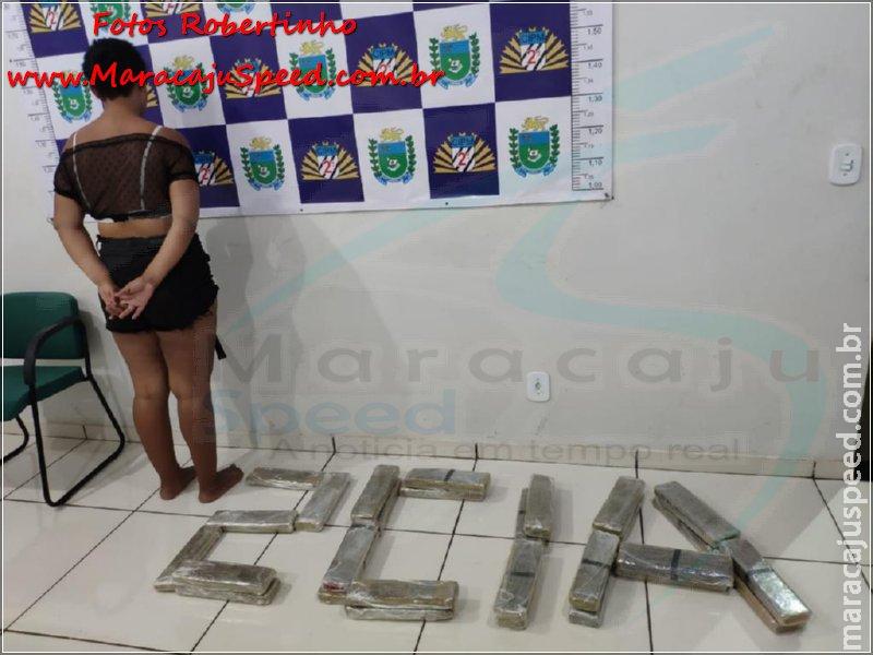 Polícia Militar de Maracaju apreende 28 de tabletes de maconha em ônibus. Traficante afirmou que a droga seguiria para Salvador/BA