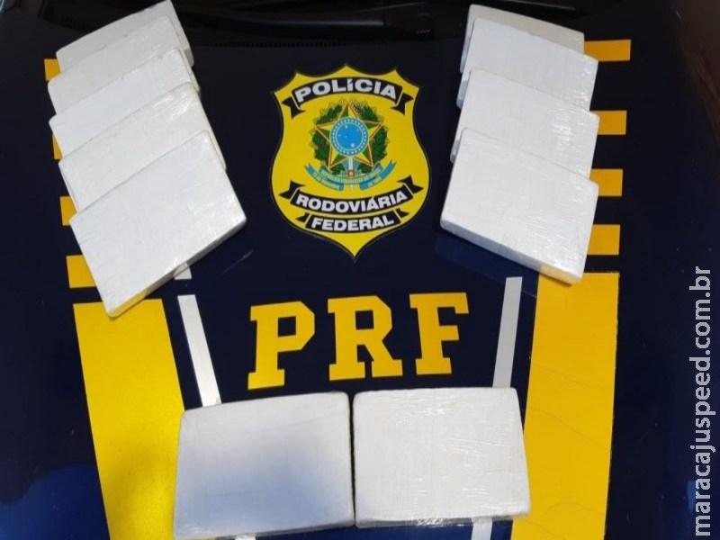 PRF apreende 11 kg de cocaína em Sidrolândia, traficante afirmou que pegou veículo com a droga em Maracaju
